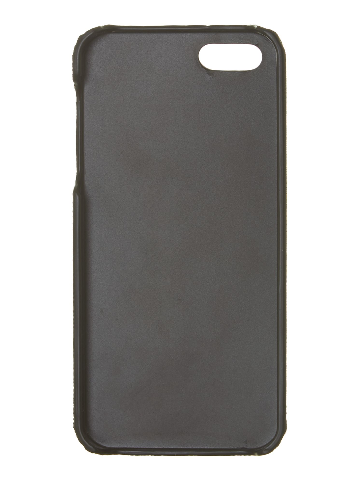 Saffiano black iPhone 5 case