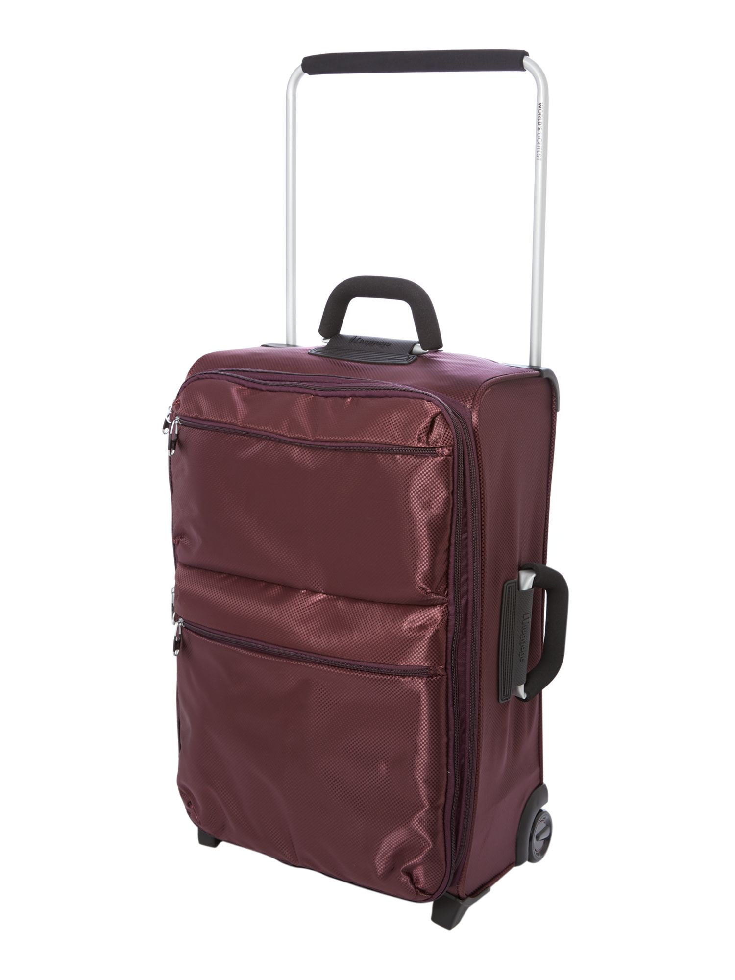 IT aubergine 2 wheels soft medium suitcase