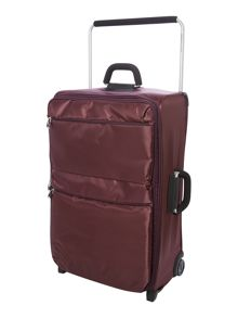 IT aubergine 2 wheels soft large suitcase