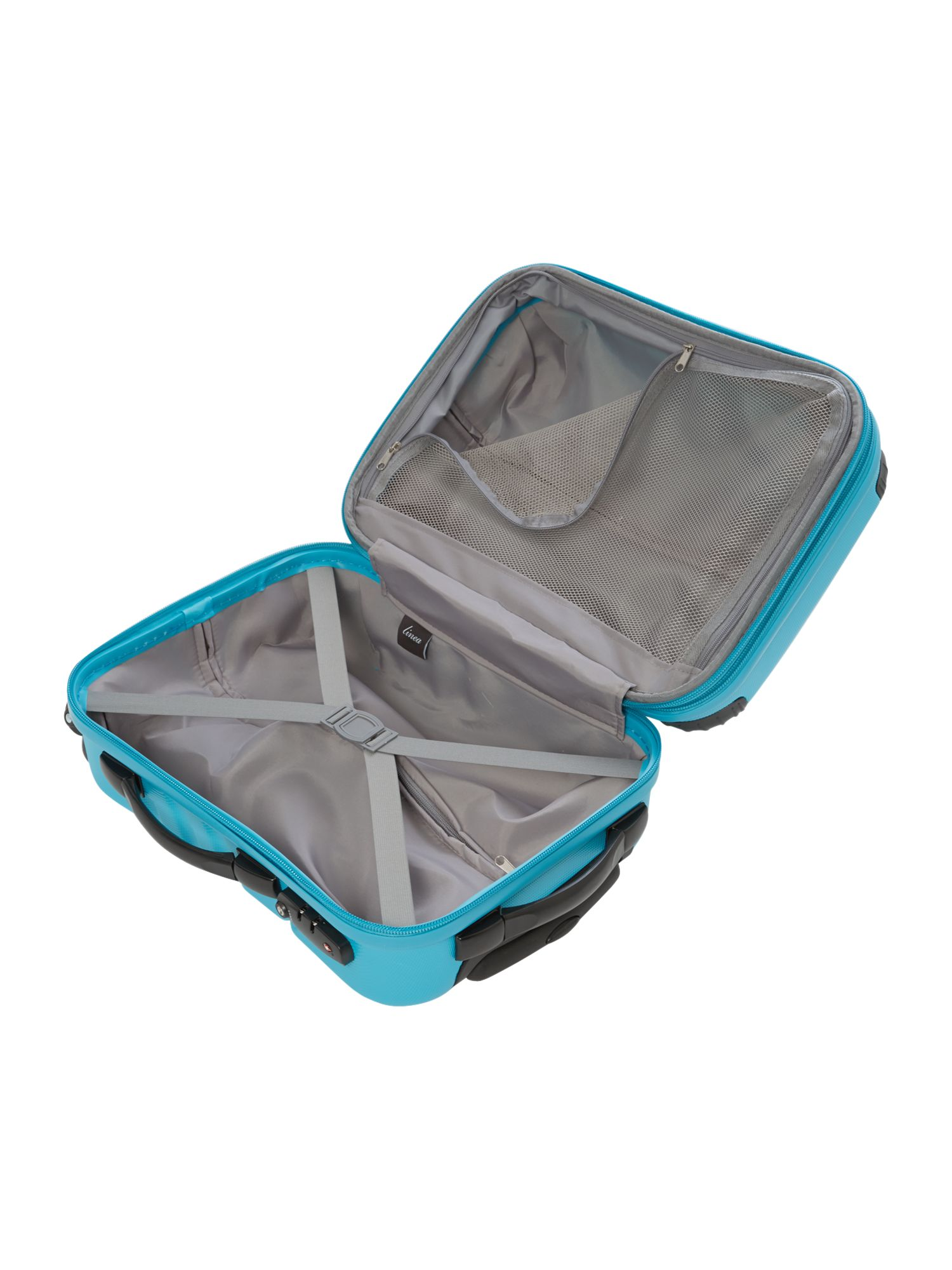 Shell aqua 2 wheel hard cabin suitcase