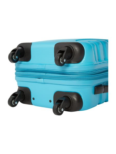 Linea Shell aqua 2 wheel hard cabin suitcase