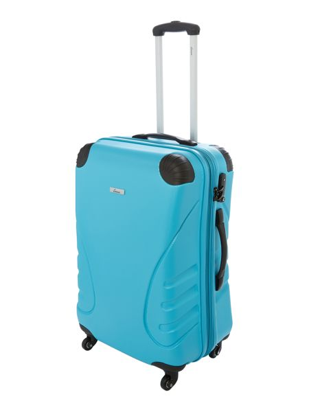 Shell aqua 4 wheel hard medium suitcase