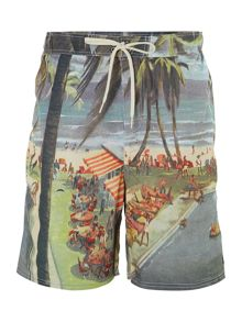 Photographic print swim short