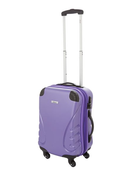 Linea Shell purple 2 wheel hard cabin suitcase