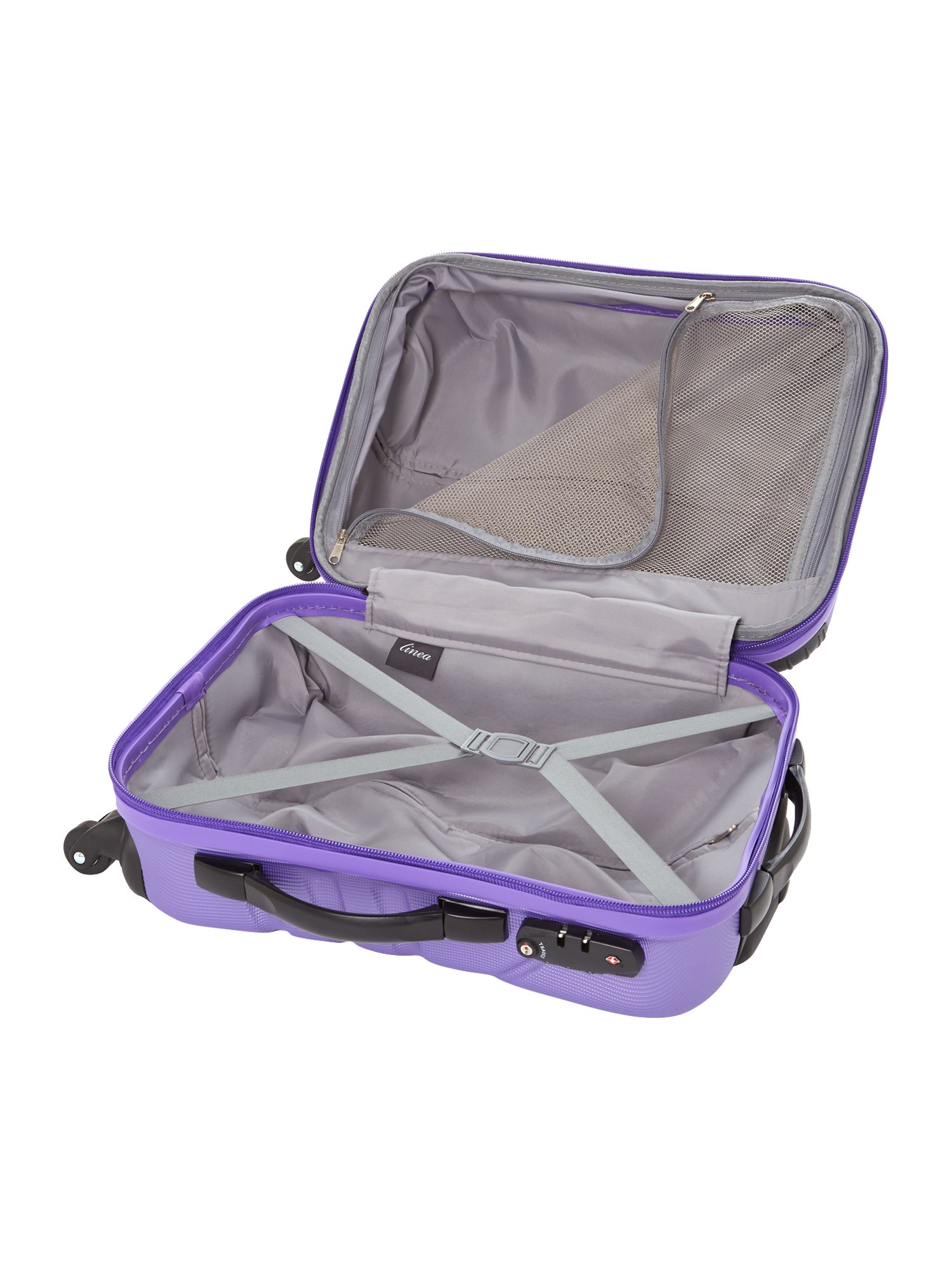 Shell purple 2 wheel hard cabin suitcase
