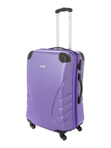 Shell purple 4 wheel hard medium suitcase