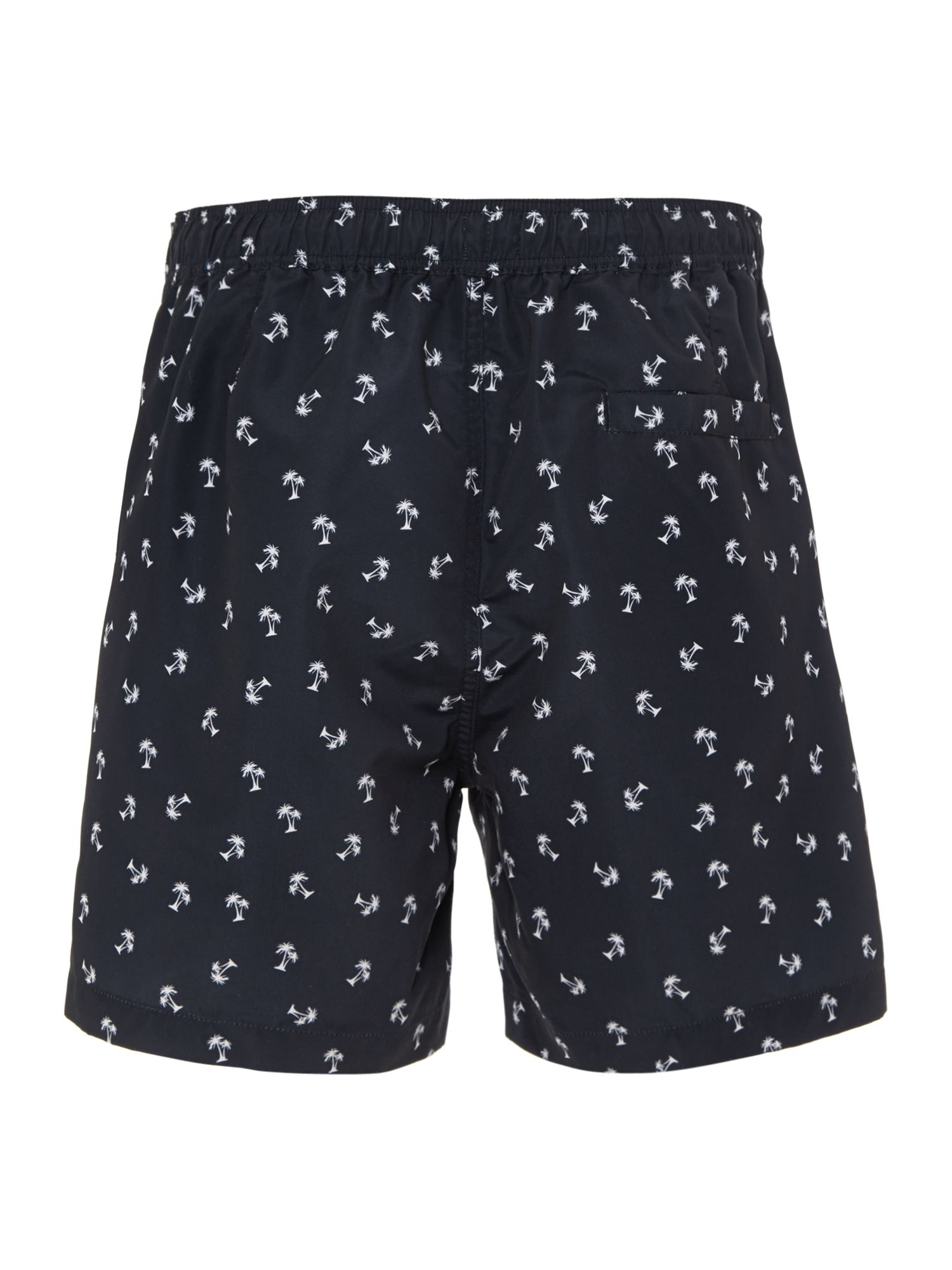 Palm tree print swim short