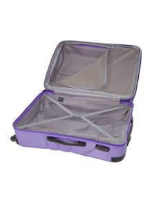 Shell purple 4 wheel hard large suitcase