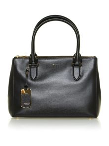 Newbury black zip tote bag
