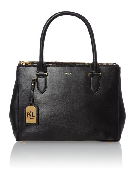 Lauren Ralph Lauren Newbury black zip tote bag