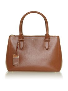 Newbury tan zip tote bag