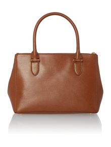 Lauren Ralph Lauren Newbury tan zip tote bag