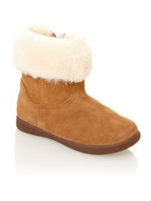 Kid`s fur cuff boot