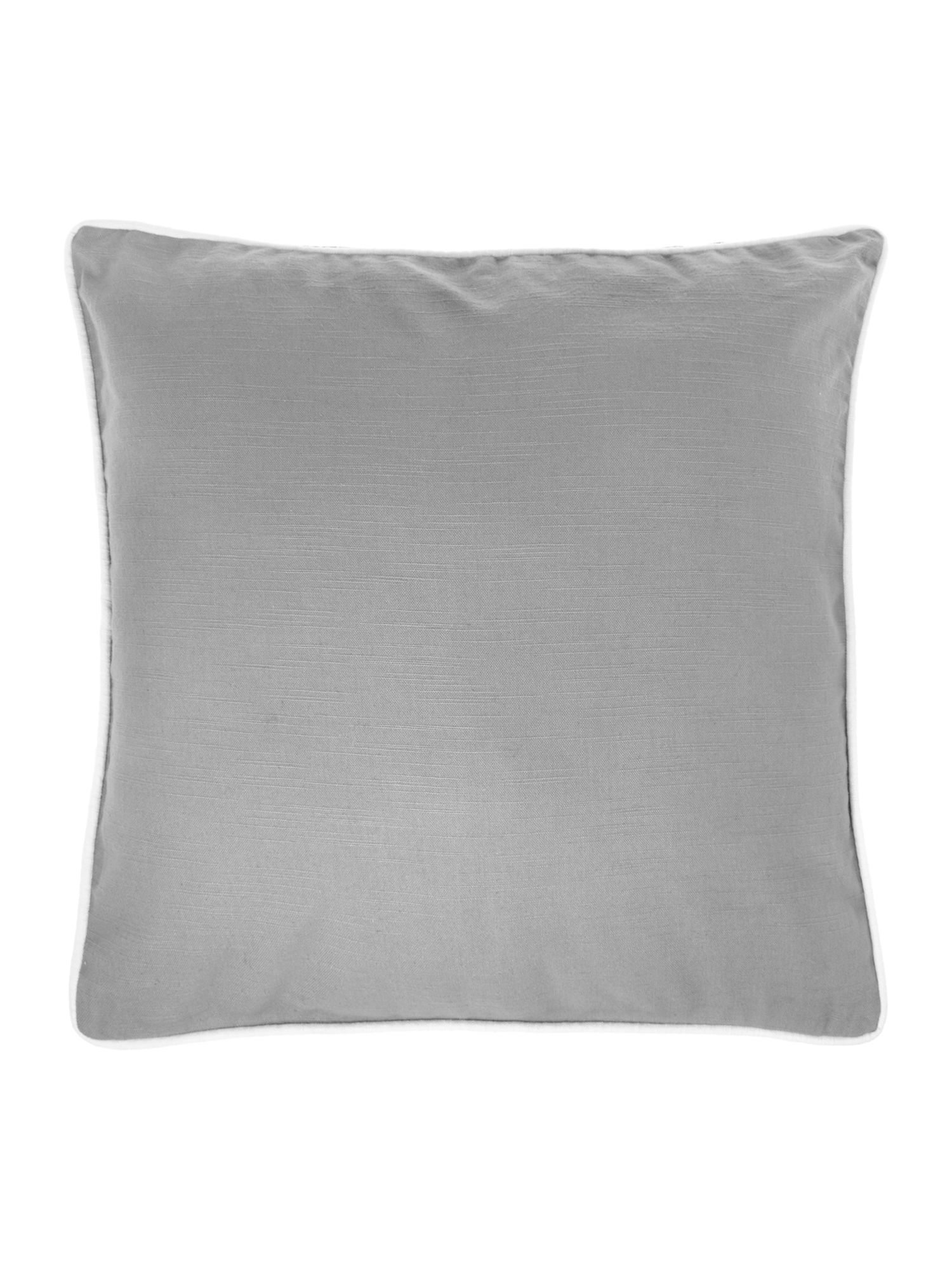 Plain cotton cushion, grey