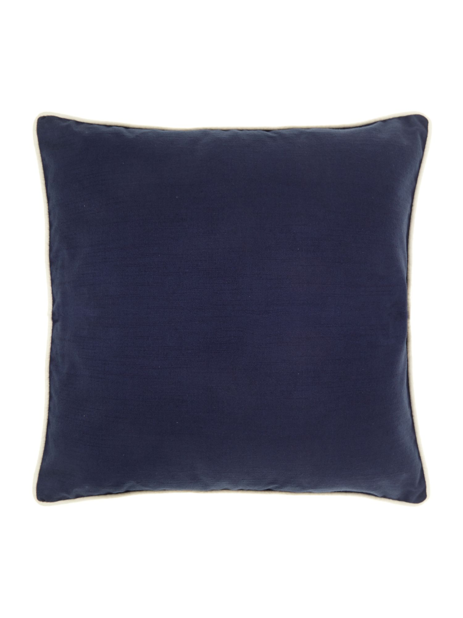 Plain cotton cushion, navy blue