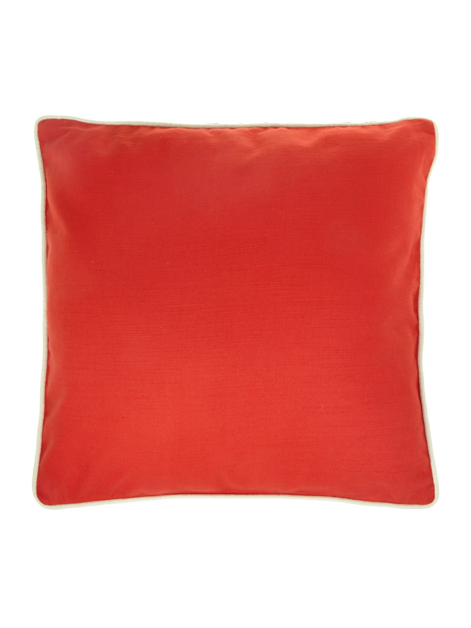 Plain cotton cushion, cherry red