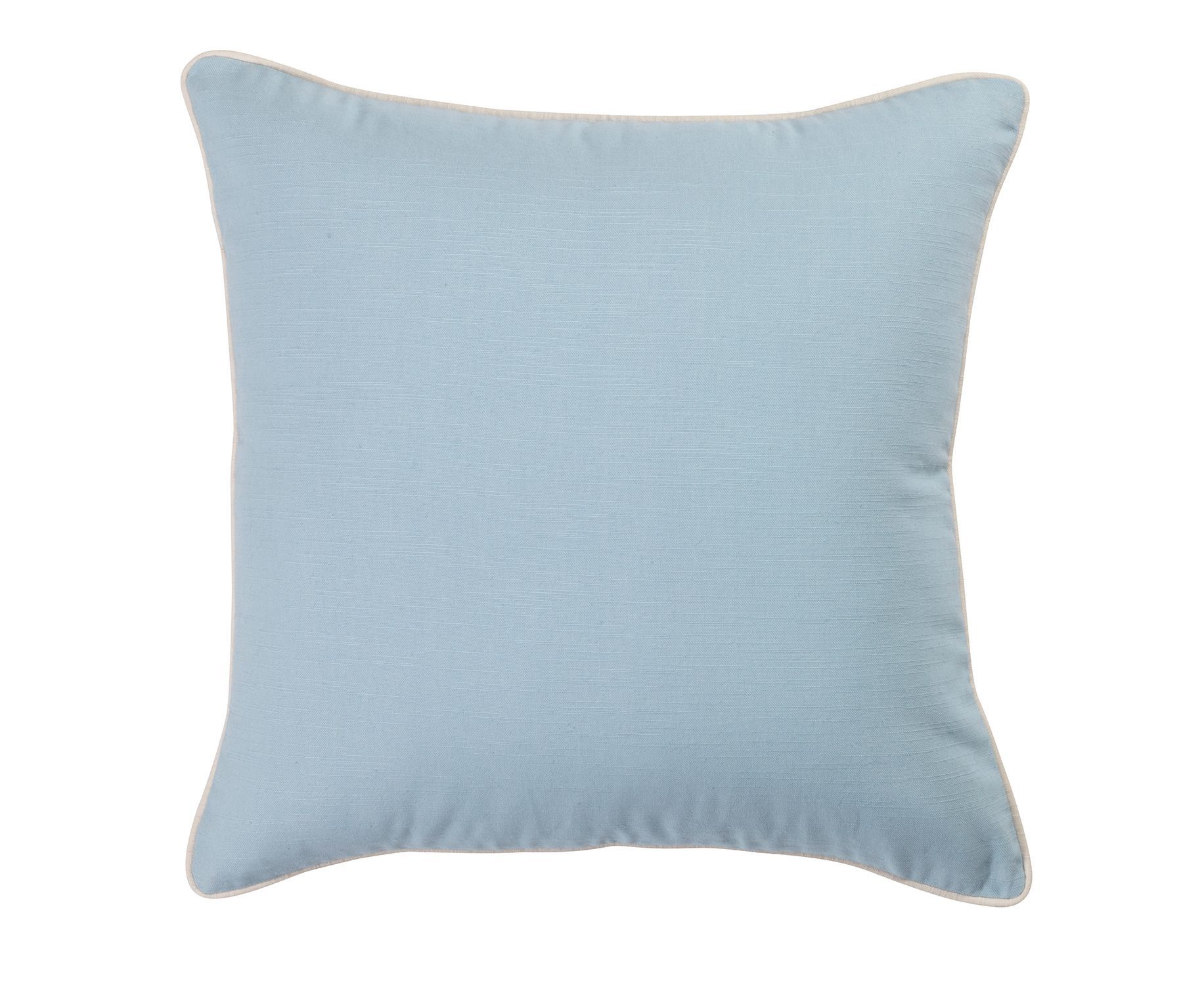 Plain cotton cushion, powder blue
