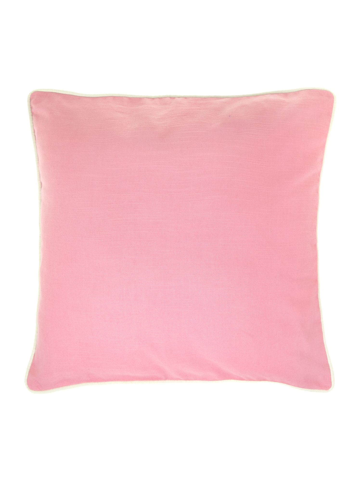 Plain cotton cushion, candy pink