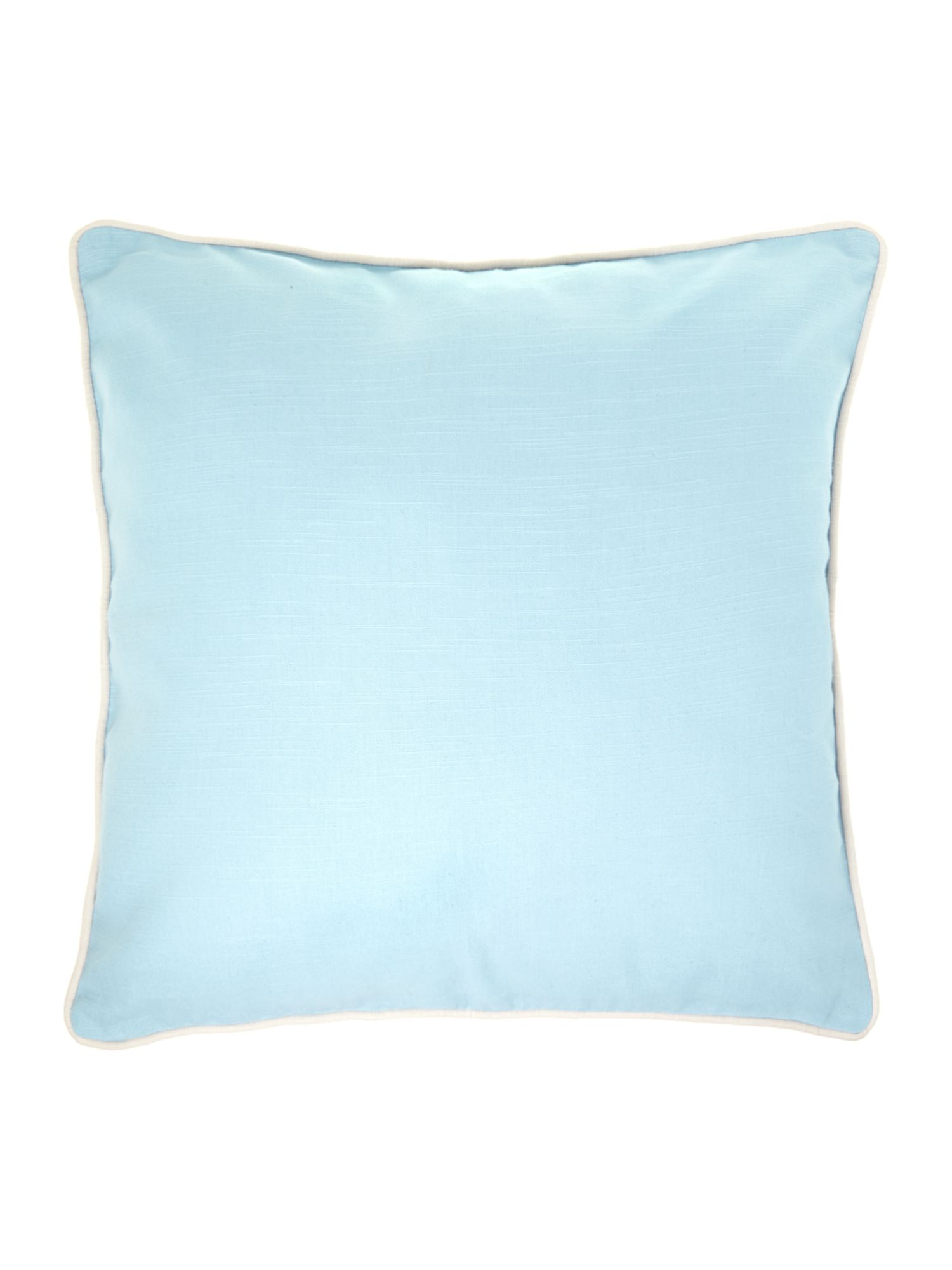 Plain cotton cushion, duck egg