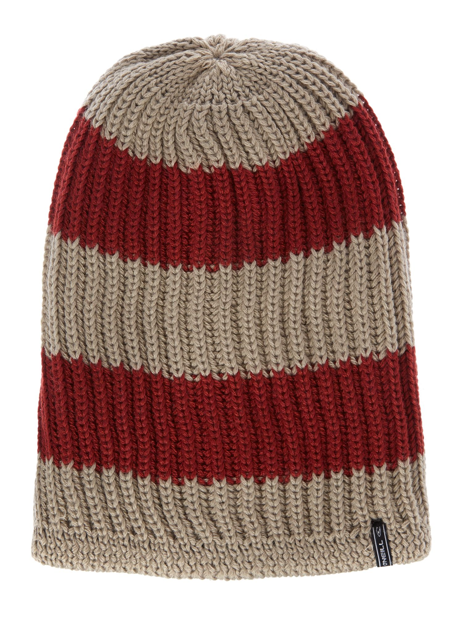 Stripe reversible beanie hat