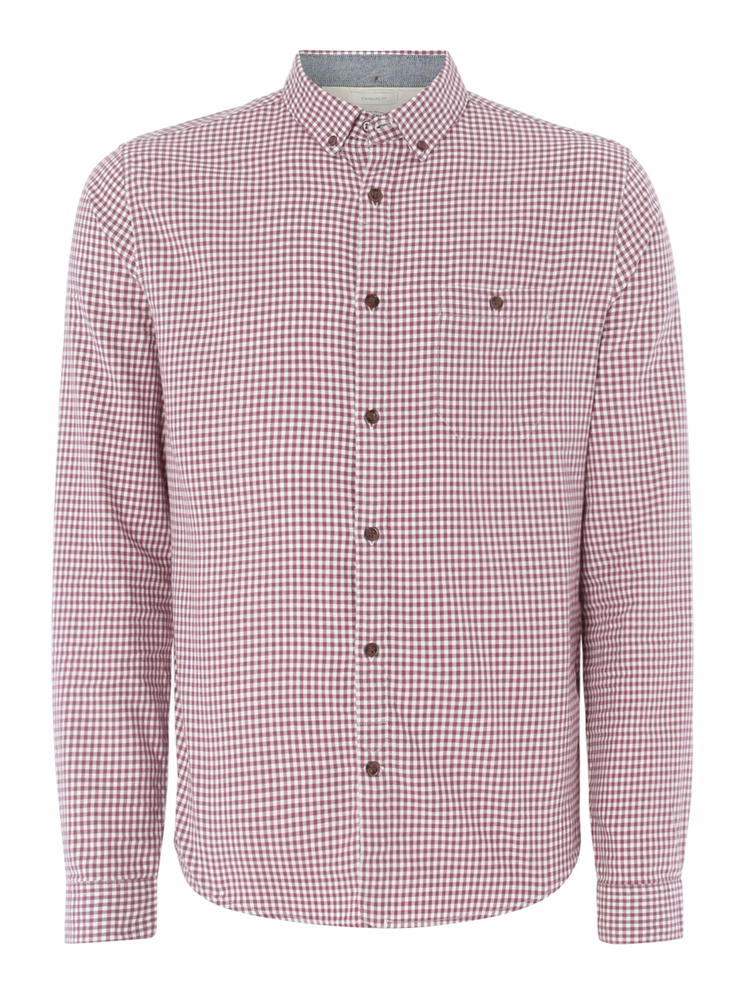 lionel check long sleeved shirt