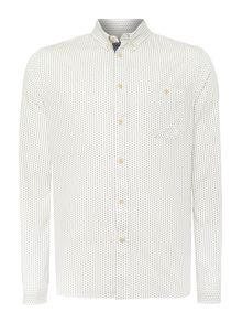 Nicholas ditsy geo print long sleeved shirt
