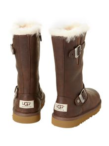 Kid`s tall leather boot