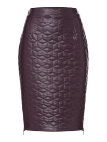 PU Quilted Pencil Skirt