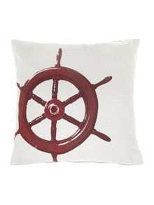 Redwheel print cushion