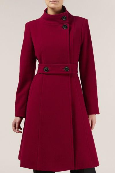 Kaliko Full Skirt Wool Coat