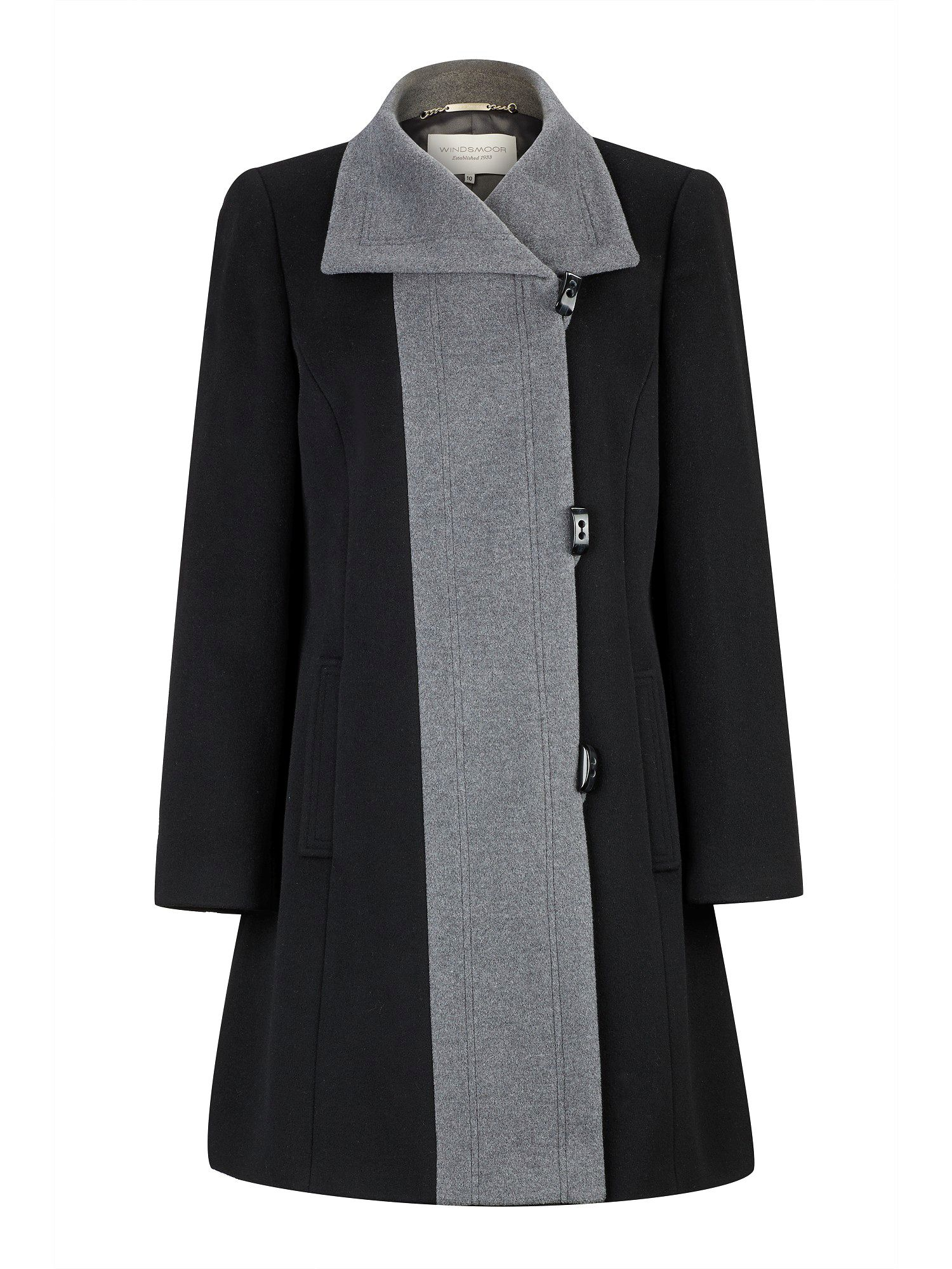 Mid-length Black and Smoke Coat
