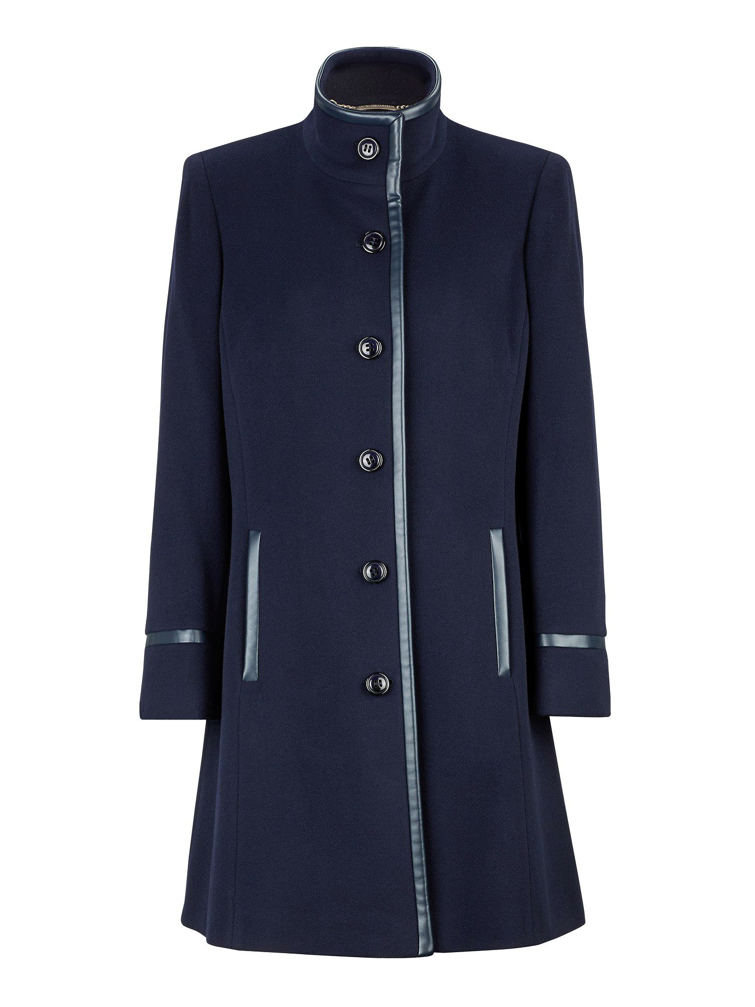 Navy City Coat