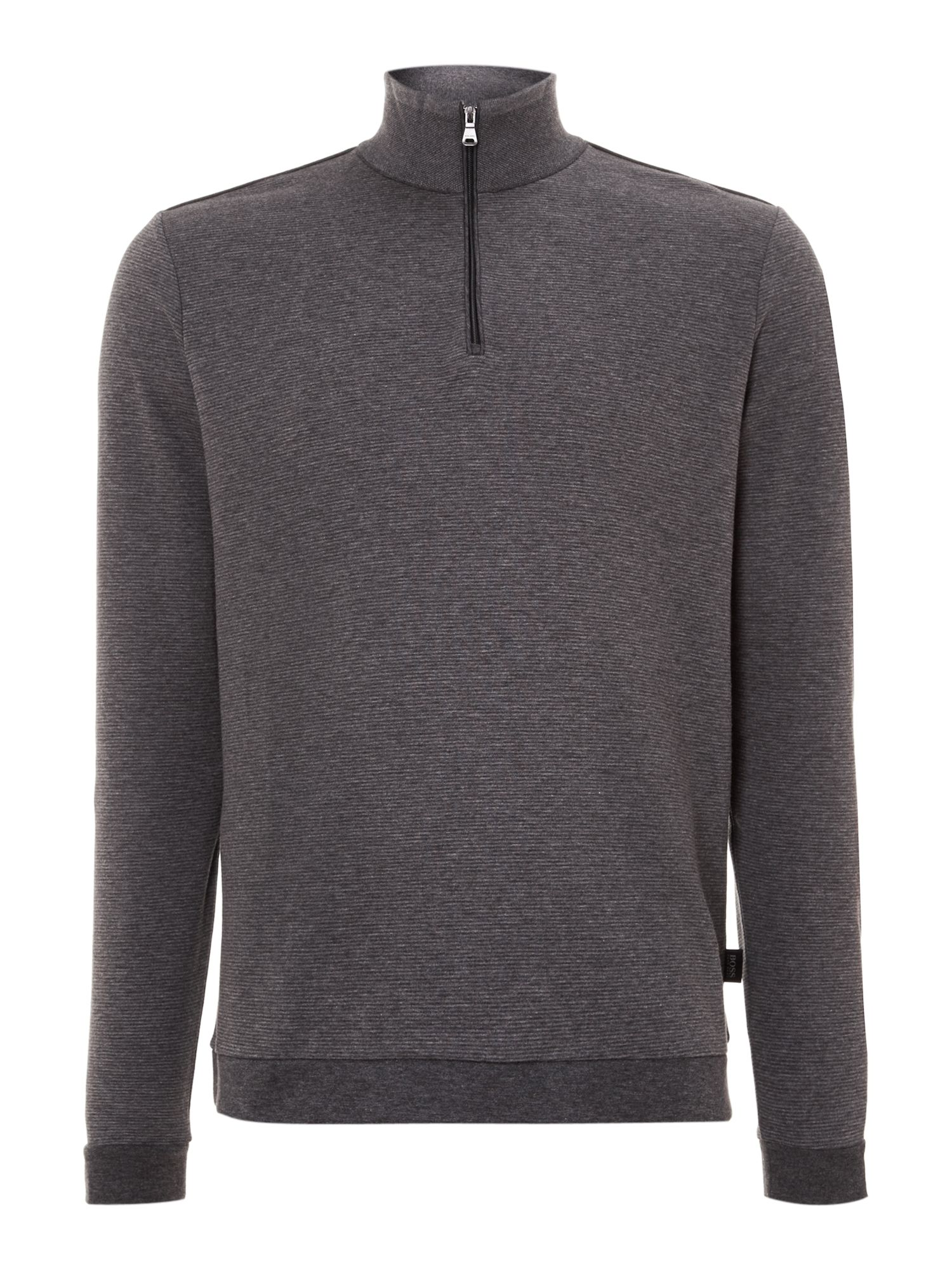 Three quarter zip stripe sweatshirt