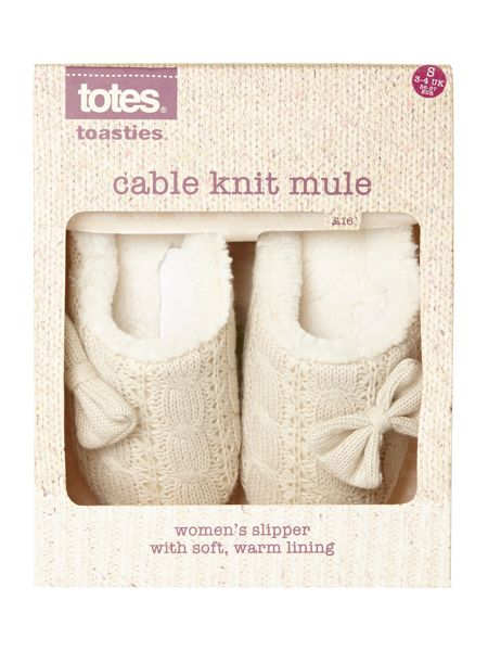 Totes Cable knitted mule