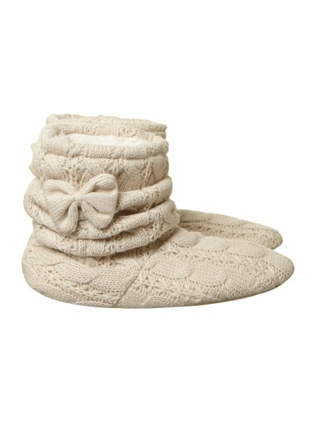 Totes Cable knitted bootie