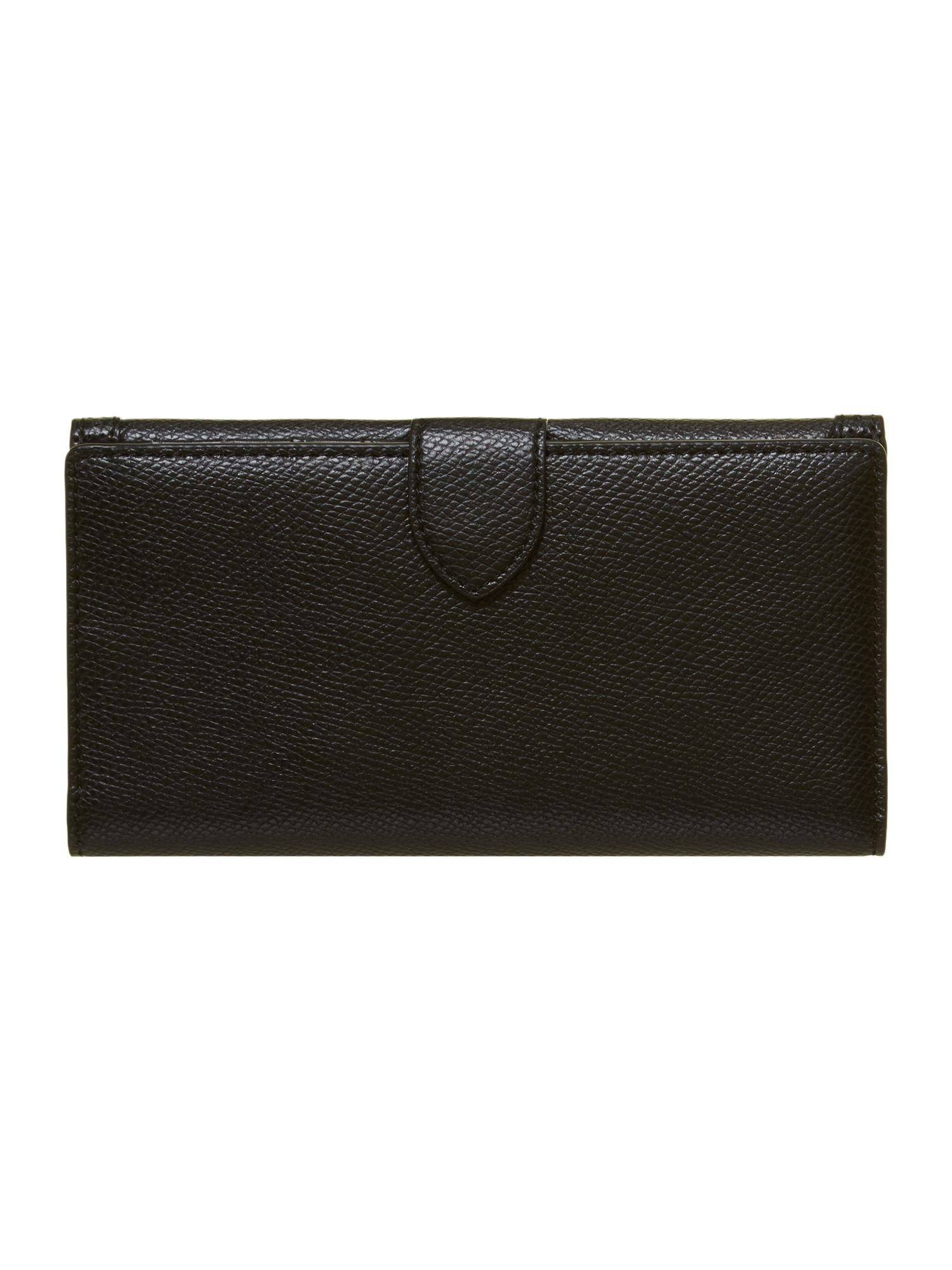 Black flap over purse