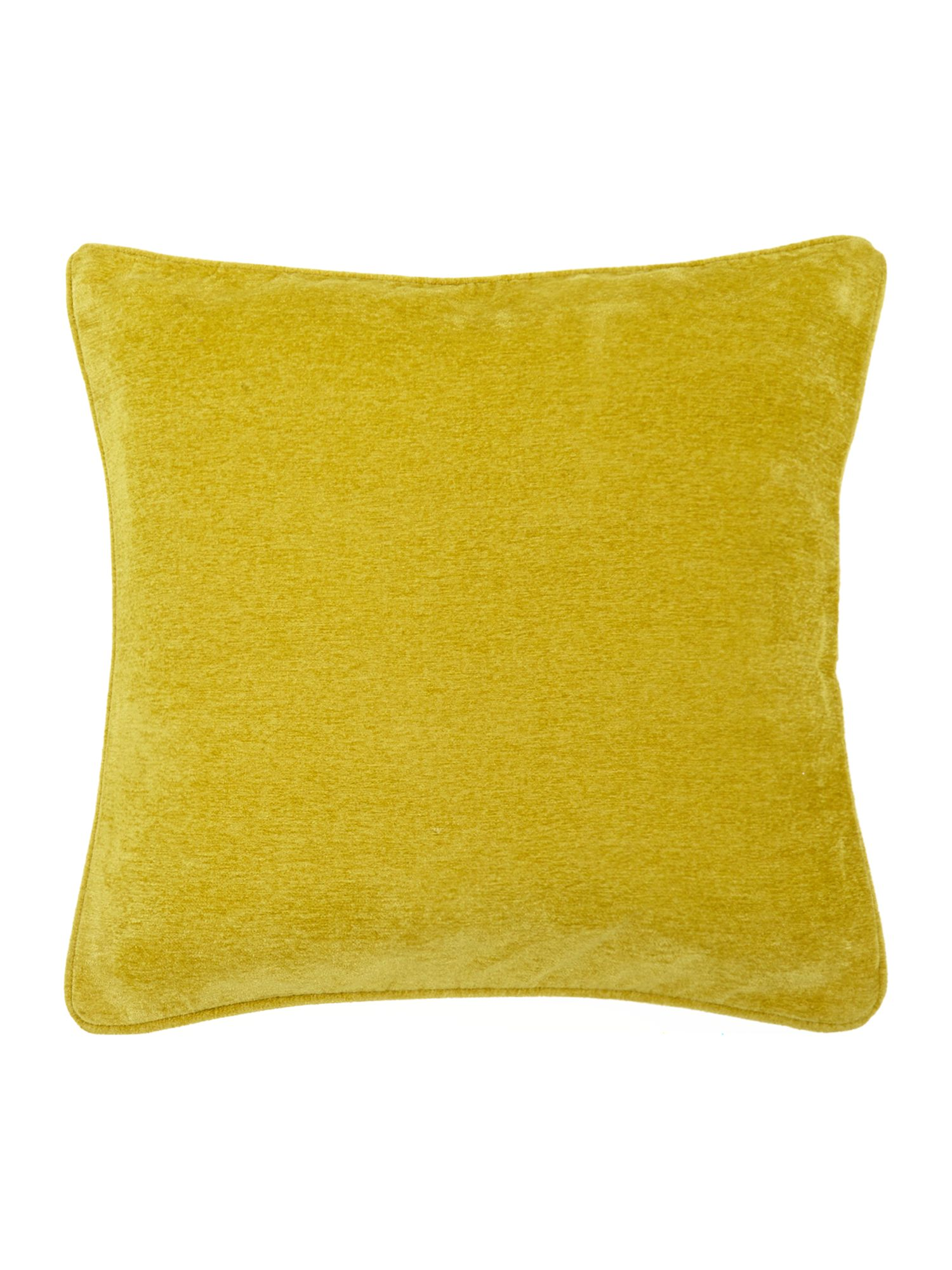 Lime plain chenille cushion