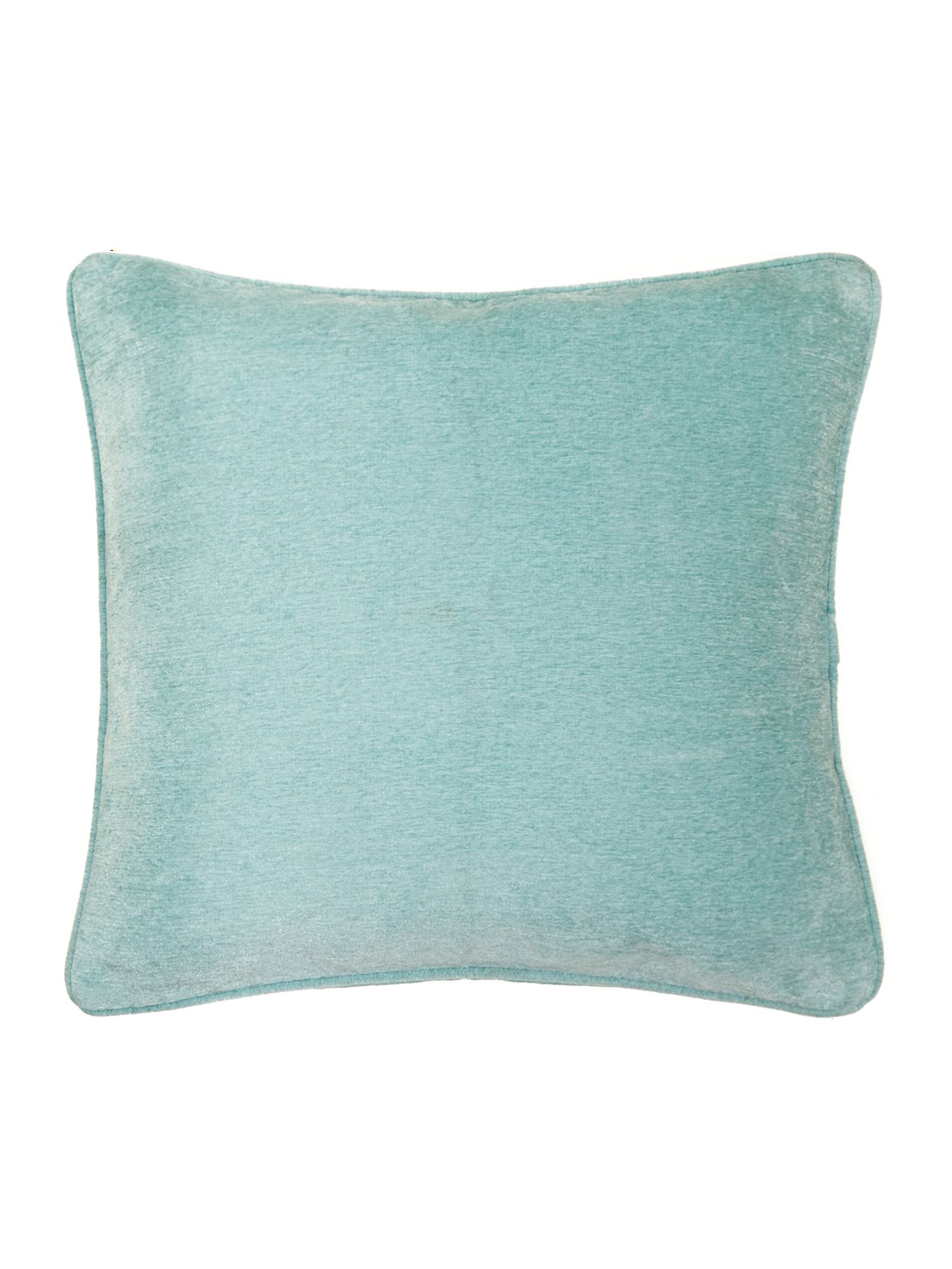 Duck egg plain chenille cushion
