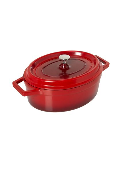 Linea Red mini oval cast aluminium dish
