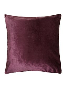 Plum oversized velvet cushion