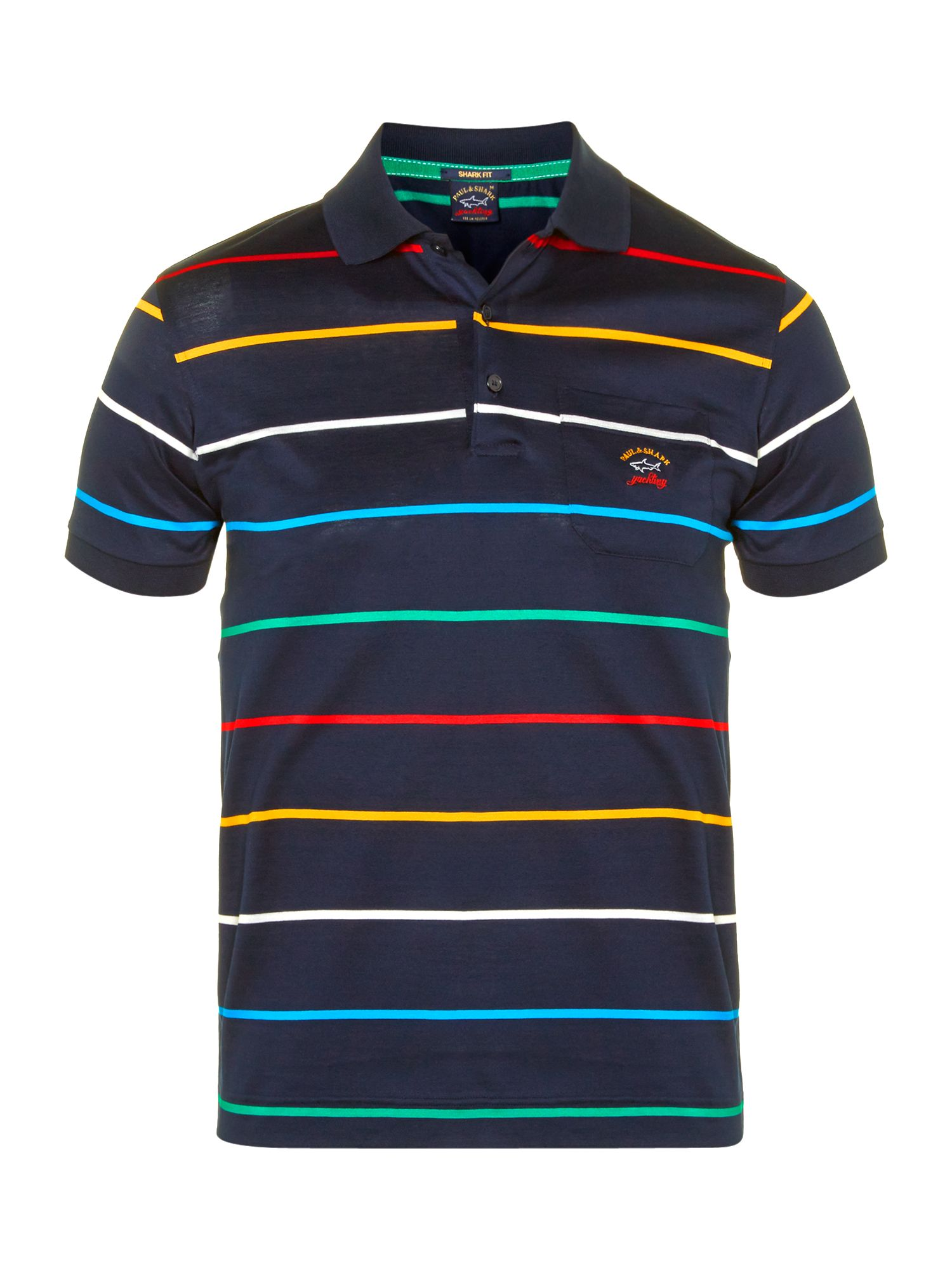 Classic striped polo