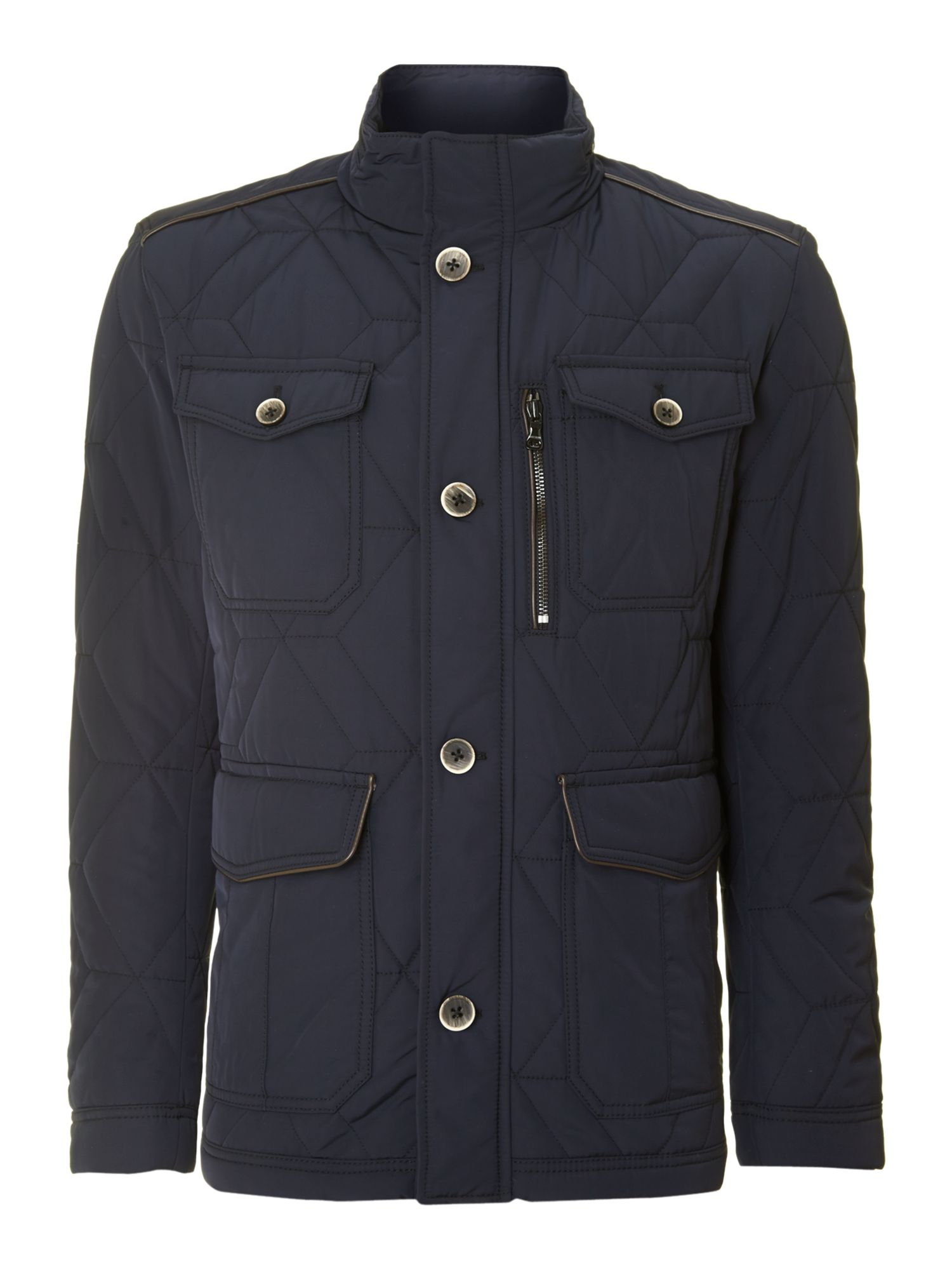 Men&39s Hugo Boss Four pocket padded jacket Navy