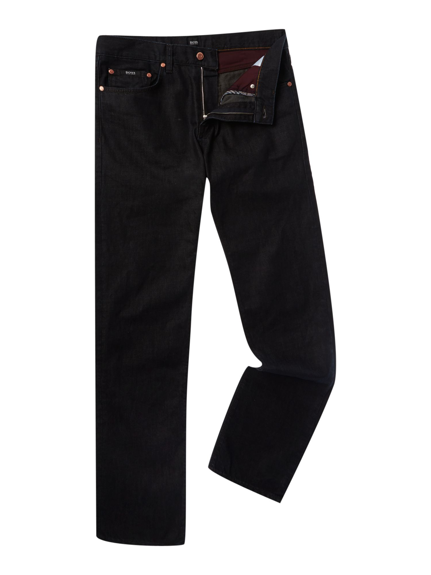 Maine regular straight dark rinse wash jean