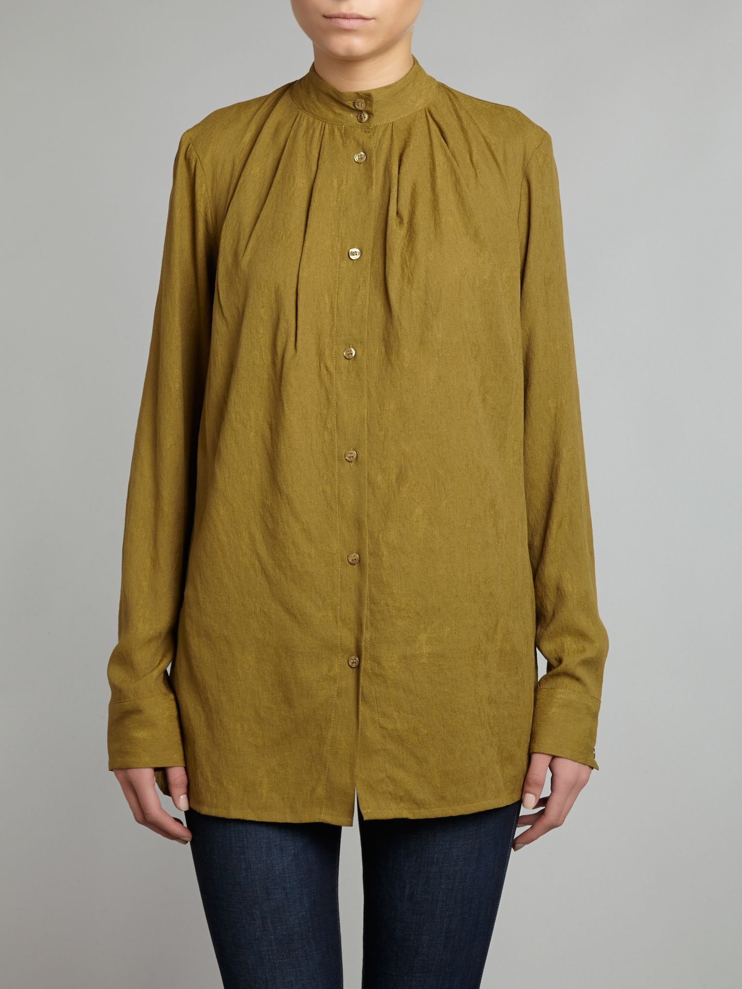 Pensa nehru neck pleated blouse