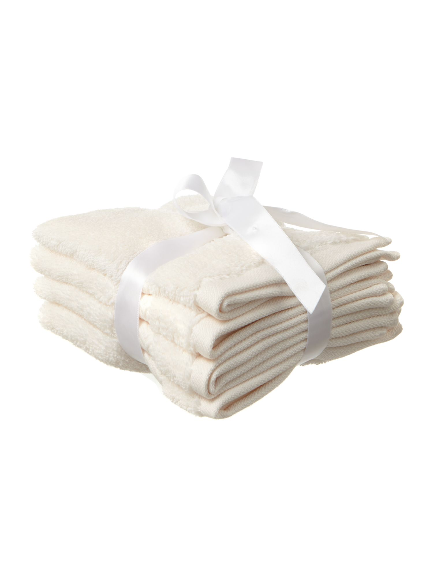 Zero Twist face cloth set of 4 in cream