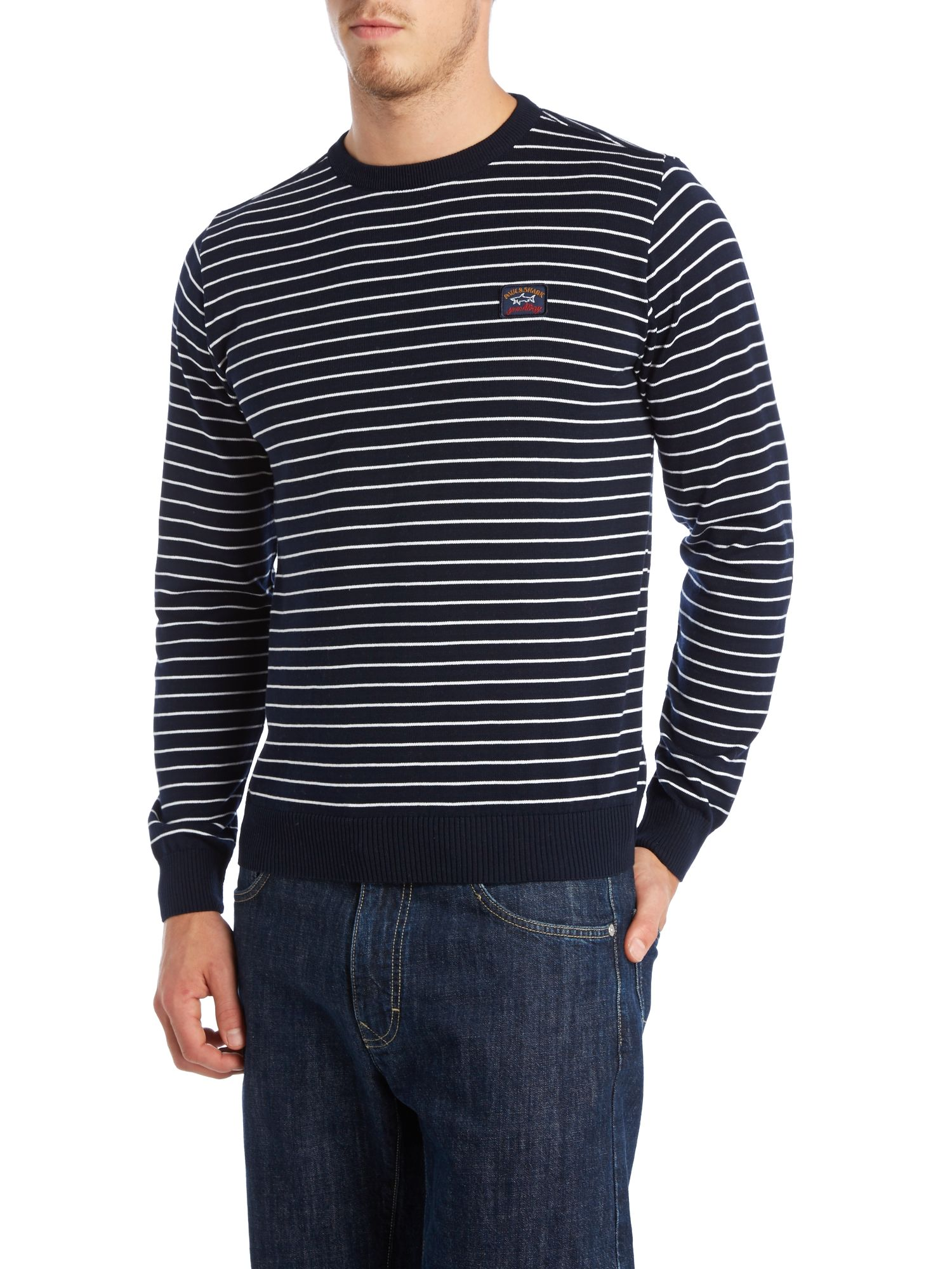 Striped crew neck jumper