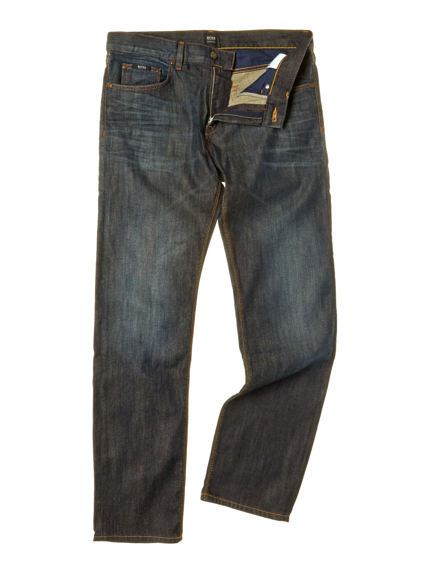Maine regular straight dark wash used