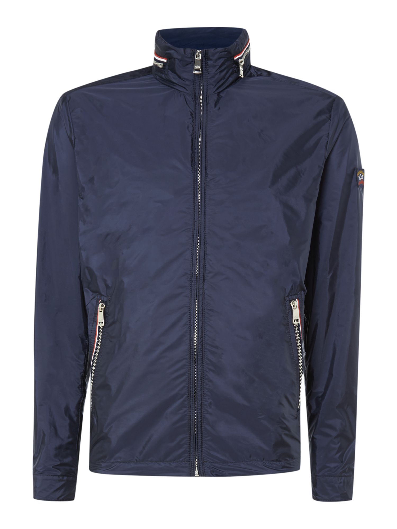 Lightweight zip through hooded jacket