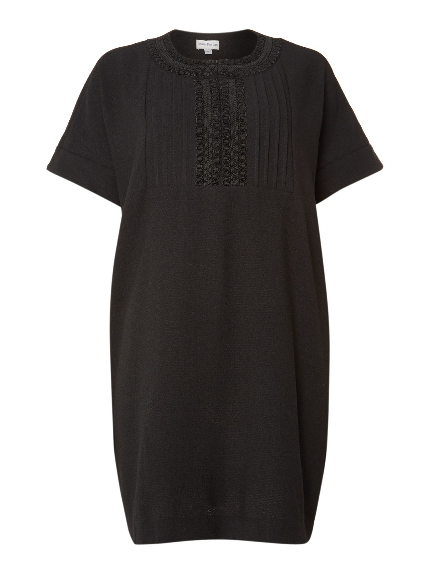 The square emb placket no-brainer dress
