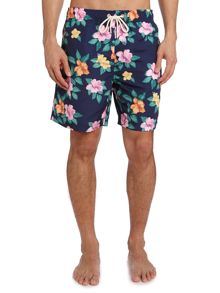 Hawaiian flower print swim short